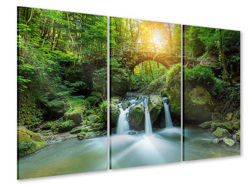 Acrylglasbild 3-teilig Wasserspiegelungen