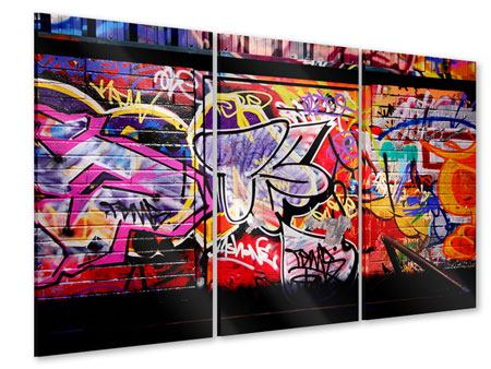 Acrylglasbild 3-teilig Graffiti Kunst