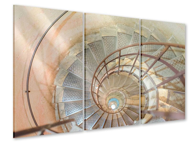 Acrylglasbild 3-teilig Wendeltreppe