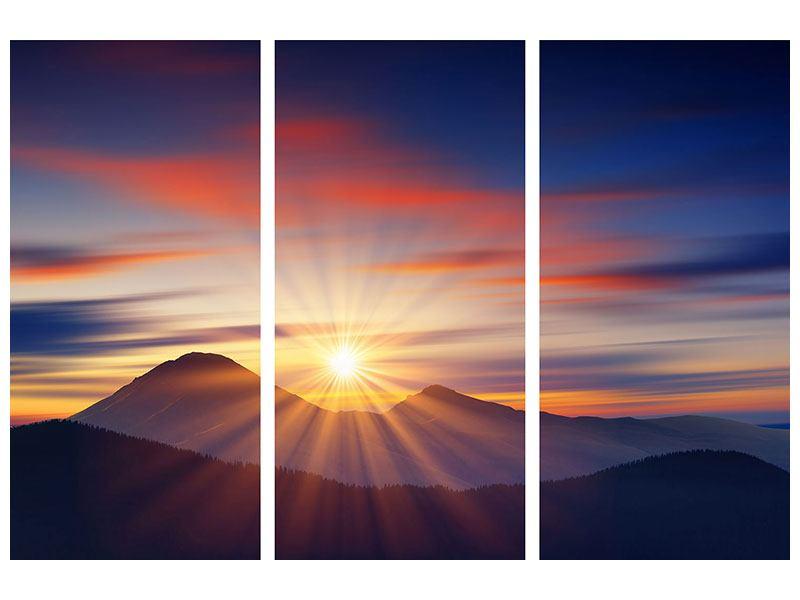 Acrylglasbild 3-teilig Märchenhafte Landschaft