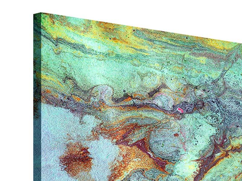 Acrylglasbild 3-teilig Marmor in Grün