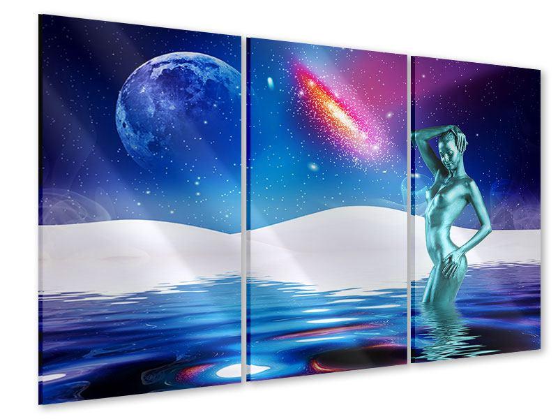 Acrylglasbild 3-teilig Mondgöttin