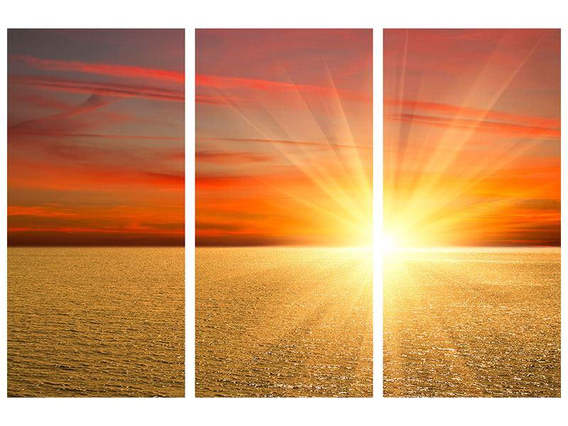 Acrylglasbild 3-teilig Der Sonnenuntergang