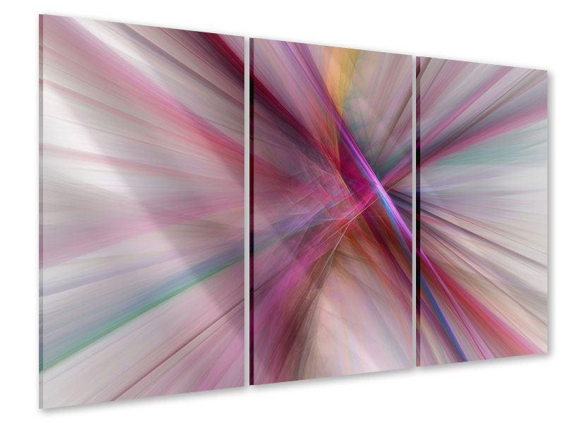 Acrylglasbild 3-teilig Abstraktes Lichterleuchten