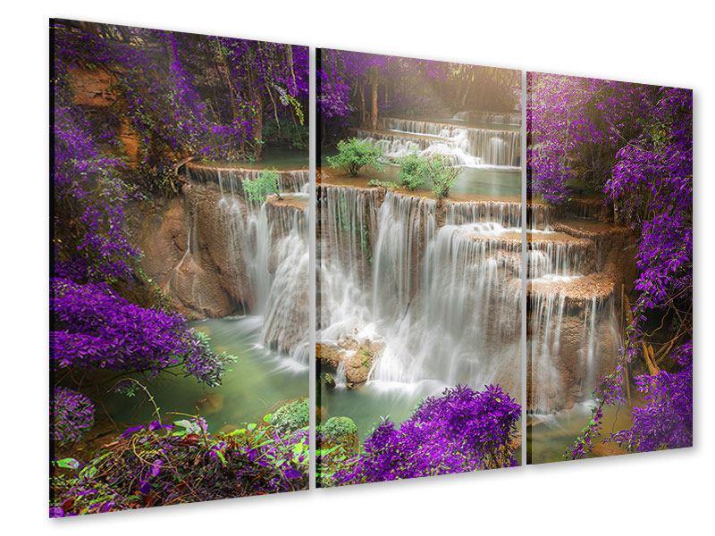Acrylglasbild 3-teilig Garten Eden