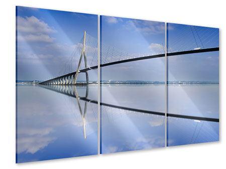 Acrylglasbild 3-teilig Die Pont de Normandie