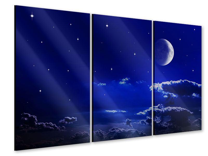 Acrylglasbild 3-teilig Der Nachthimmel