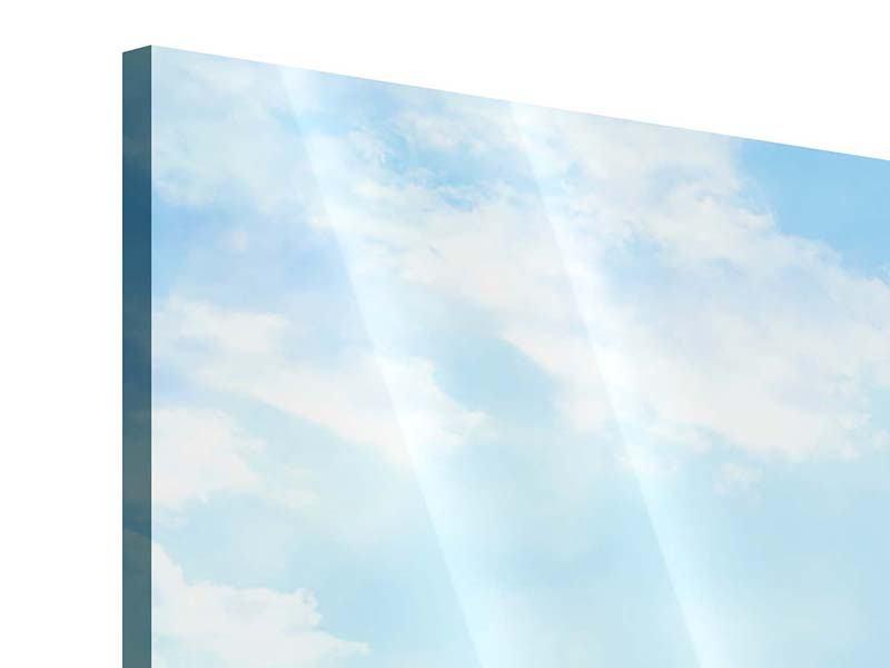 Acrylglasbild 3-teilig Schiffchen