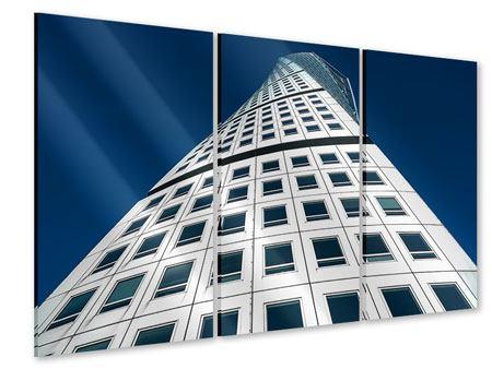 Acrylglasbild 3-teilig Meisterstück Wolkenkratzer