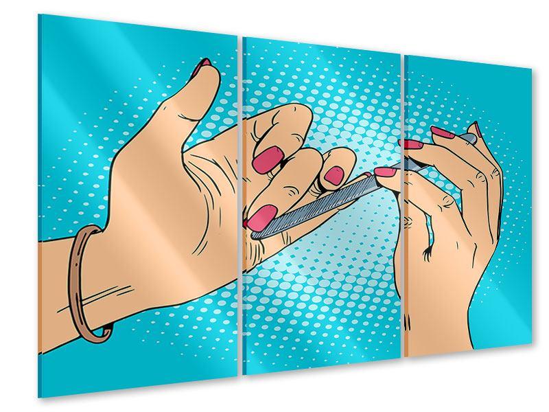 Acrylglasbild 3-teilig Pop Art Nails