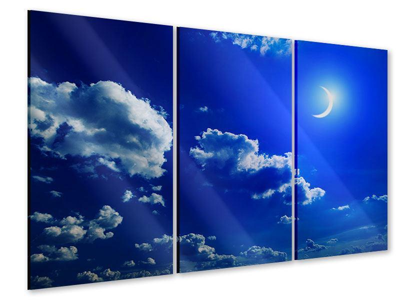 Acrylglasbild 3-teilig Der Mond