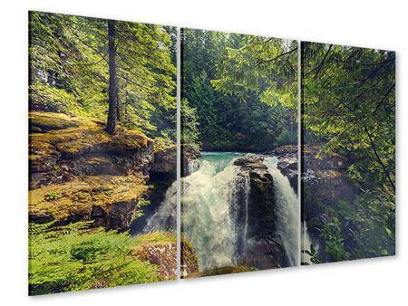 Acrylglasbild 3-teilig Flussströmung