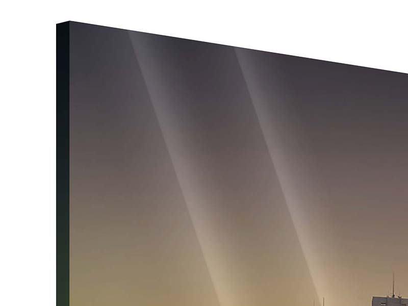 Acrylglasbild 3-teilig Skyline Sydney im Lichtermeer