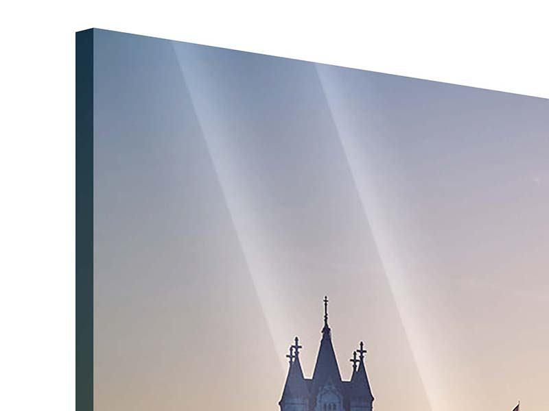 Acrylglasbild 3-teilig Tower Bridge bei Sonnenuntergang
