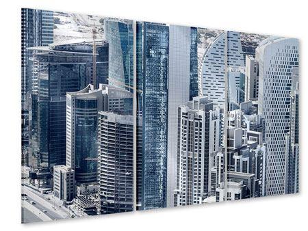 Acrylglasbild 3-teilig Die Wolkenkratzer von Dubai