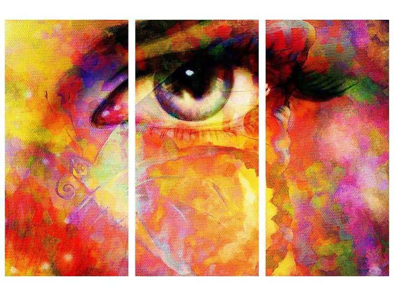 Acrylglasbild 3-teilig Das Auge