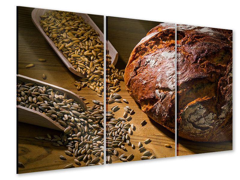 Acrylglasbild 3-teilig Das Brot
