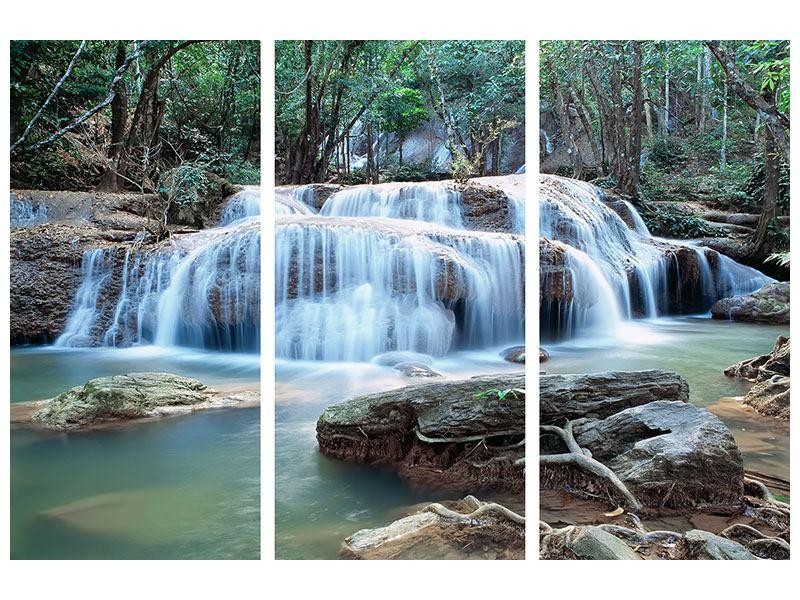 Acrylglasbild 3-teilig Ein Wasserfall