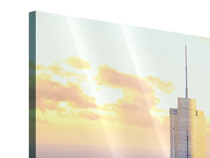 Acrylglasbild 3-teilig Skyline Chicago