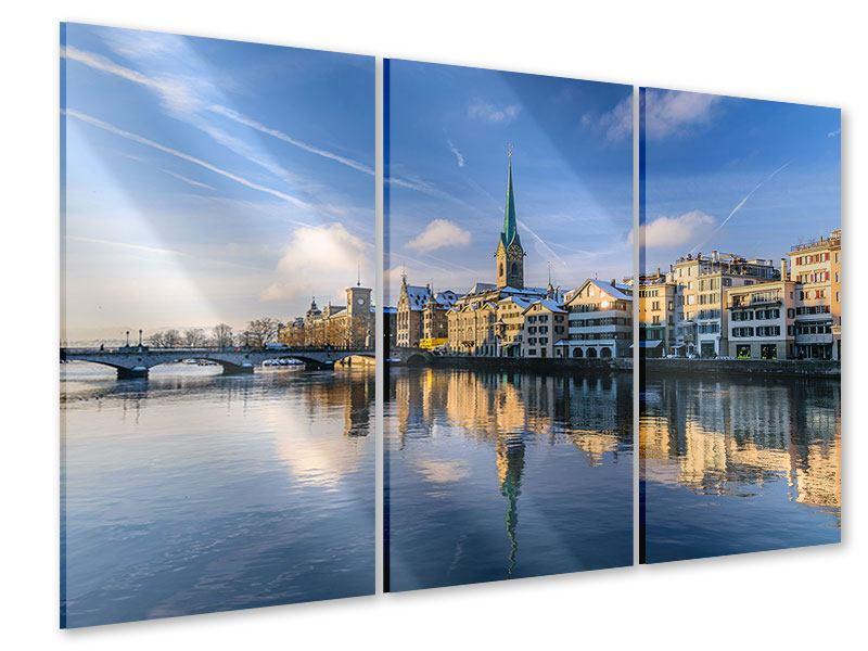 Acrylglasbild 3-teilig Zürich