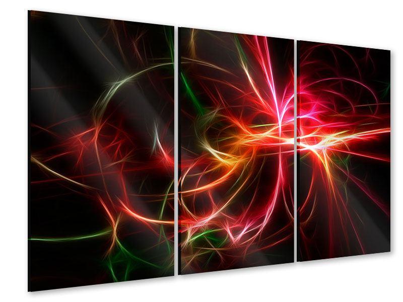 Acrylglasbild 3-teilig Fraktales Lichtspektakel