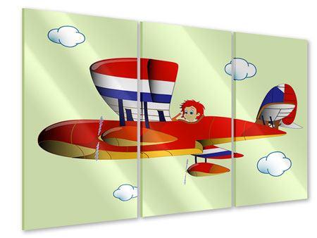 Acrylglasbild 3-teilig Der fliegende Junge