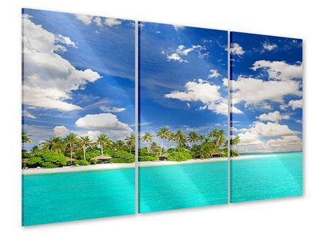 Acrylglasbild 3-teilig Meine Insel