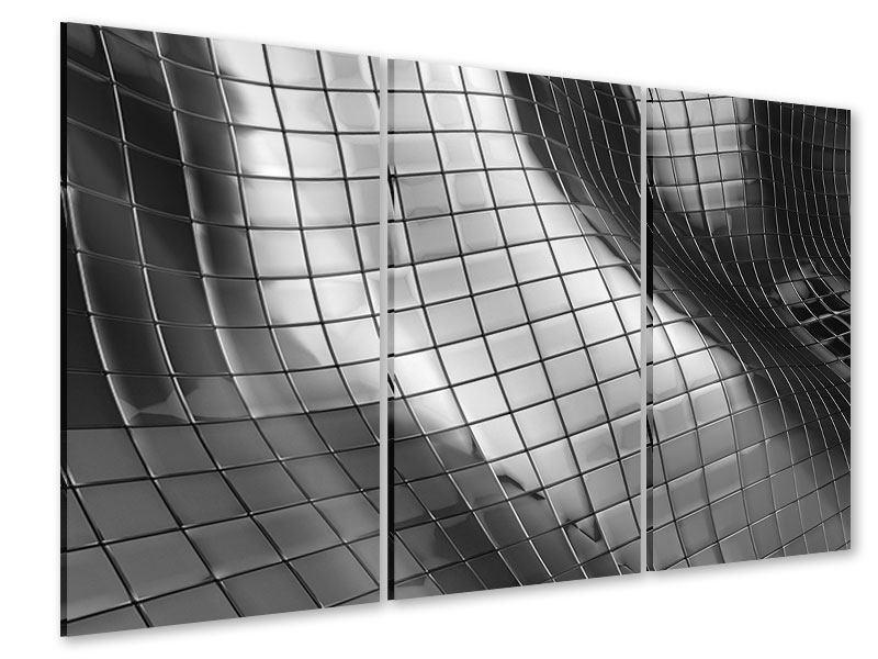 Acrylglasbild 3-teilig Abstrakter Stahl