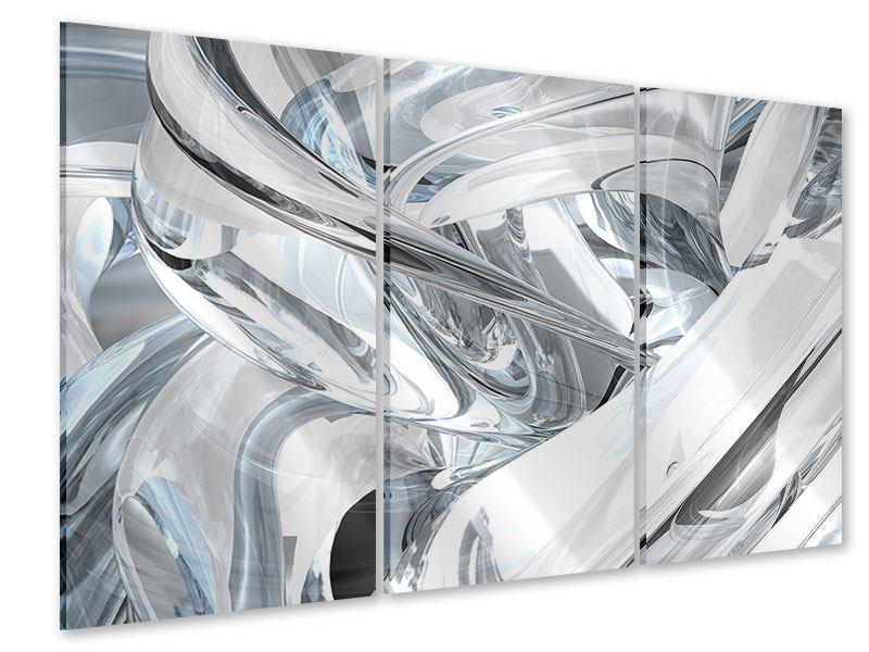 Acrylglasbild 3-teilig Abstrakte Glasbahnen