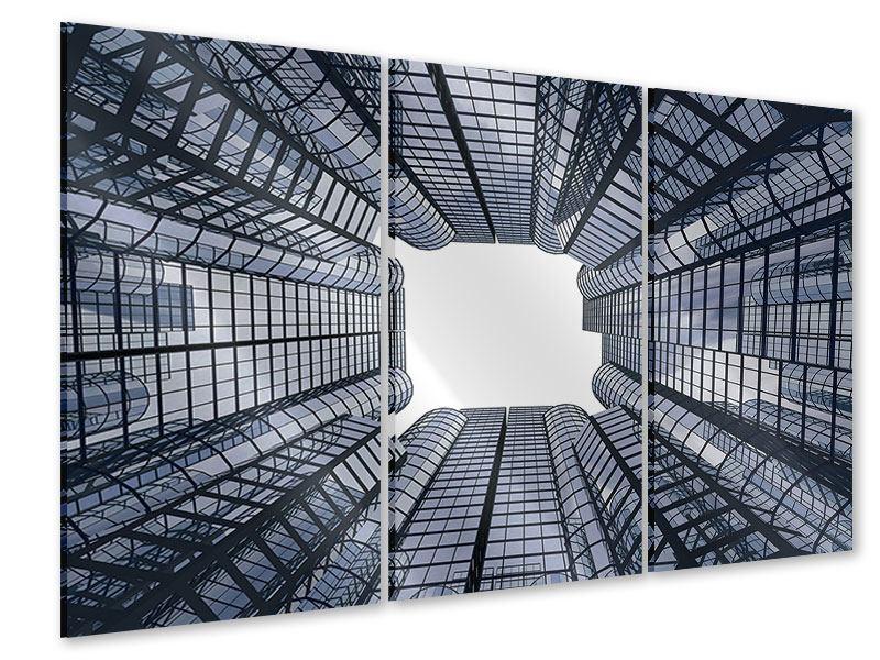 Acrylglasbild 3-teilig Besondere Perspektive
