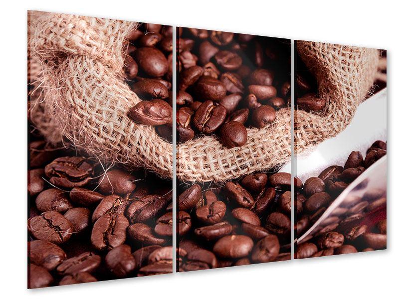 Acrylglasbild 3-teilig XXL Kaffeebohnen