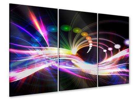 Acrylglasbild 3-teilig Abstrakte Lichtreflexe
