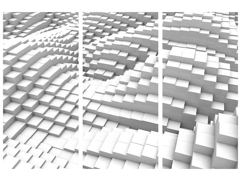 Acrylglasbild 3-teilig 3D-Elemente