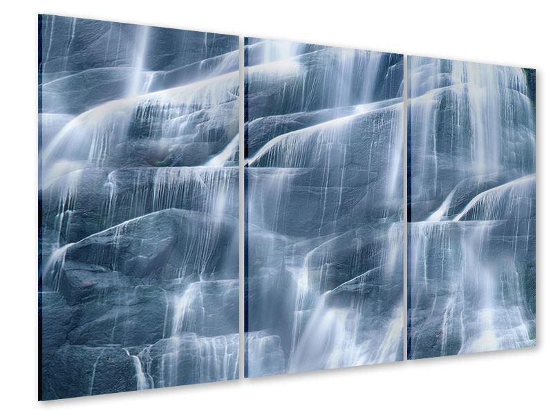 Acrylglasbild 3-teilig Grossartiger Wasserfall