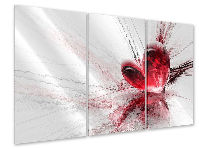 Acrylglasbild 3-teilig Herzspiegelung
