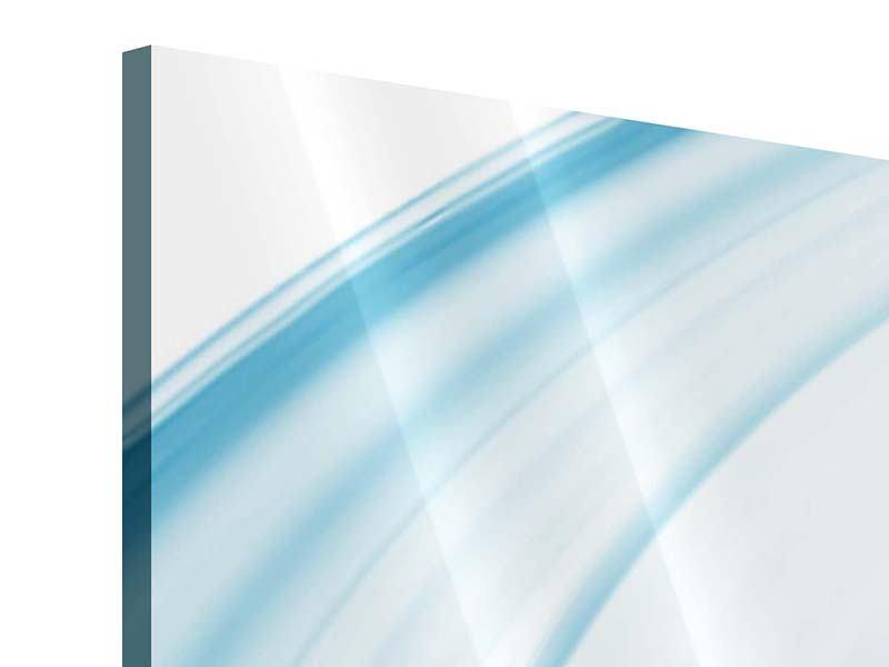 Acrylglasbild 3-teilig Abstraktes Glas