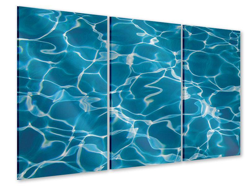 Acrylglasbild 3-teilig Pool