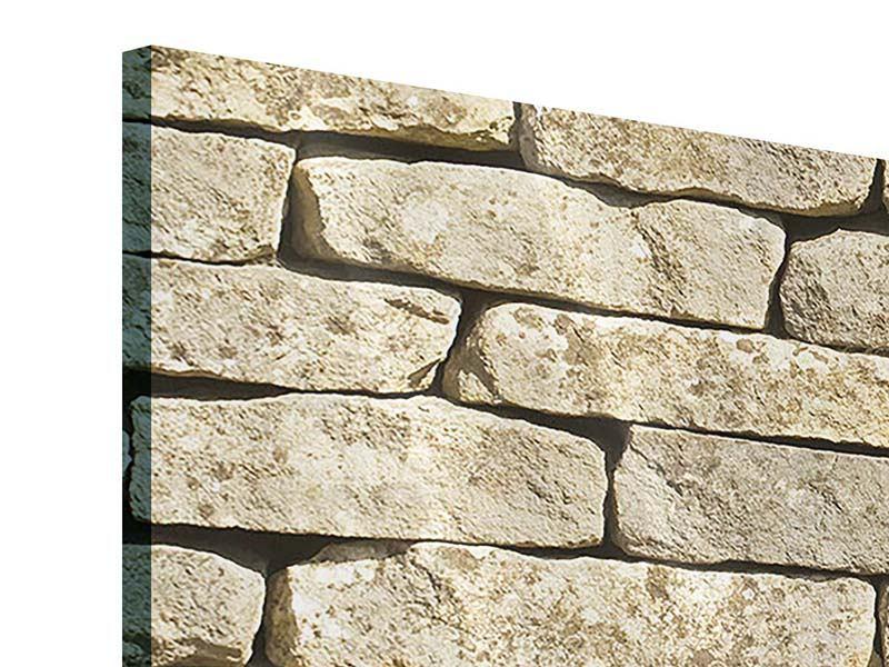 Acrylglasbild 3-teilig Alte Mauer