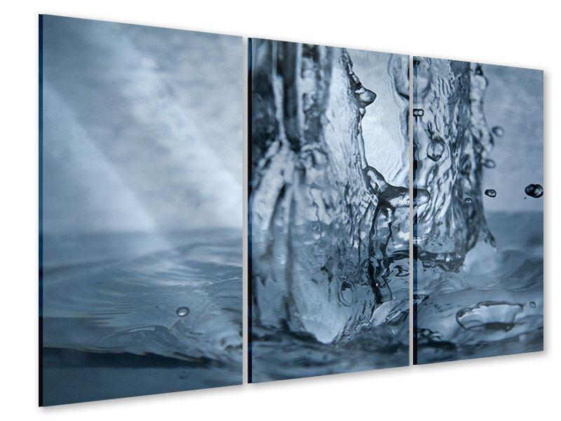Acrylglasbild 3-teilig Wasserdynamik