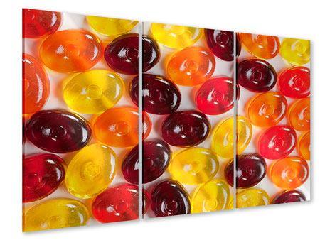 Acrylglasbild 3-teilig Bonbons