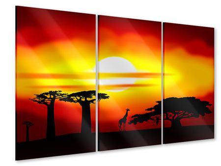 Acrylglasbild 3-teilig Faszination Afrika