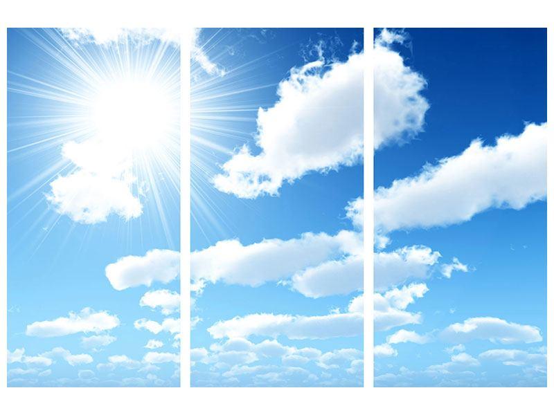 Acrylglasbild 3-teilig Am Himmel