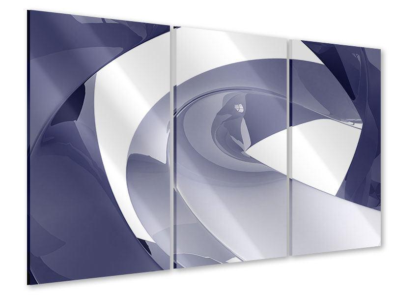 Acrylglasbild 3-teilig Abstrakte Schwingungen
