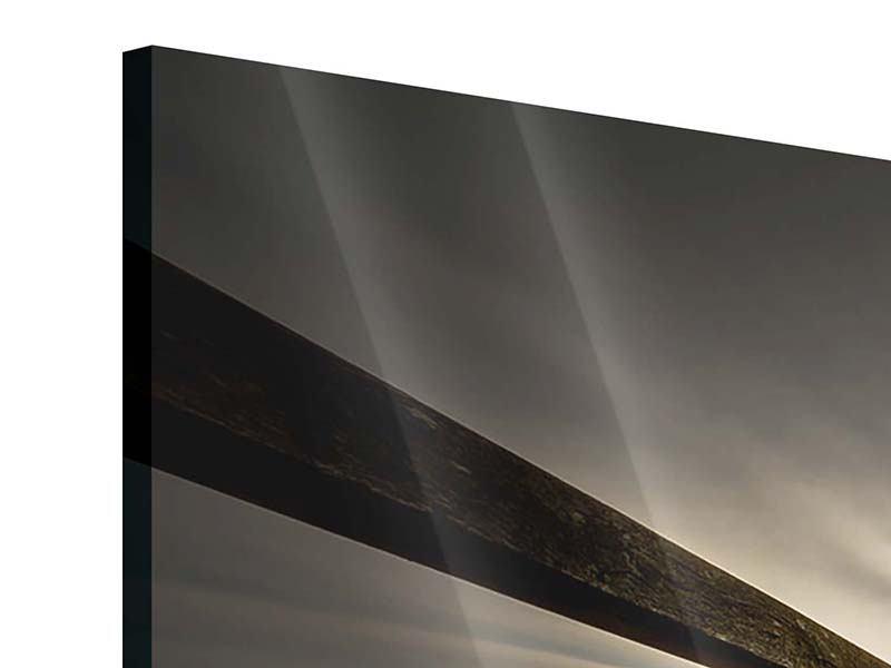 Acrylglasbild 3-teilig Die Holzbrücke