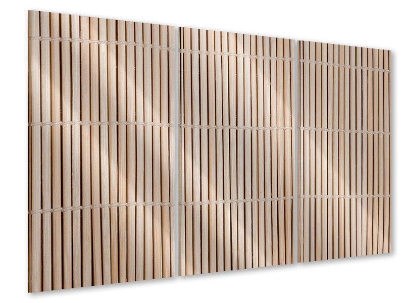 Acrylglasbild 3-teilig Lucky Bamboo