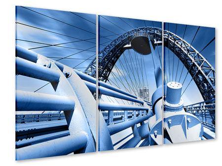 Acrylglasbild 3-teilig Avantgardistische Hängebrücke