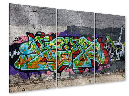 Acrylglasbild 3-teilig Graffiti in New York