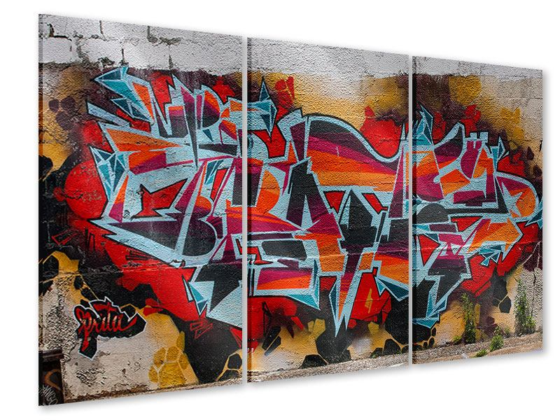 Acrylglasbild 3-teilig New York Graffiti