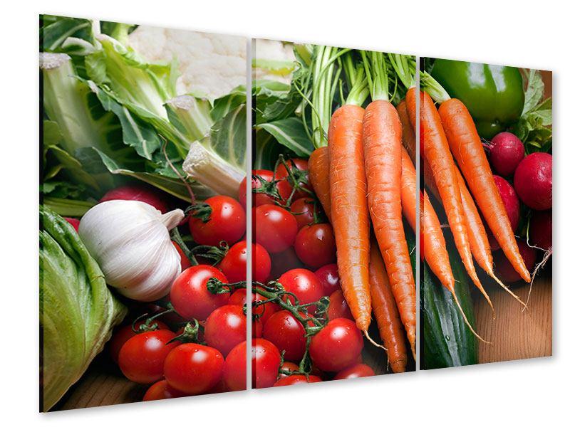 Acrylglasbild 3-teilig Gemüse