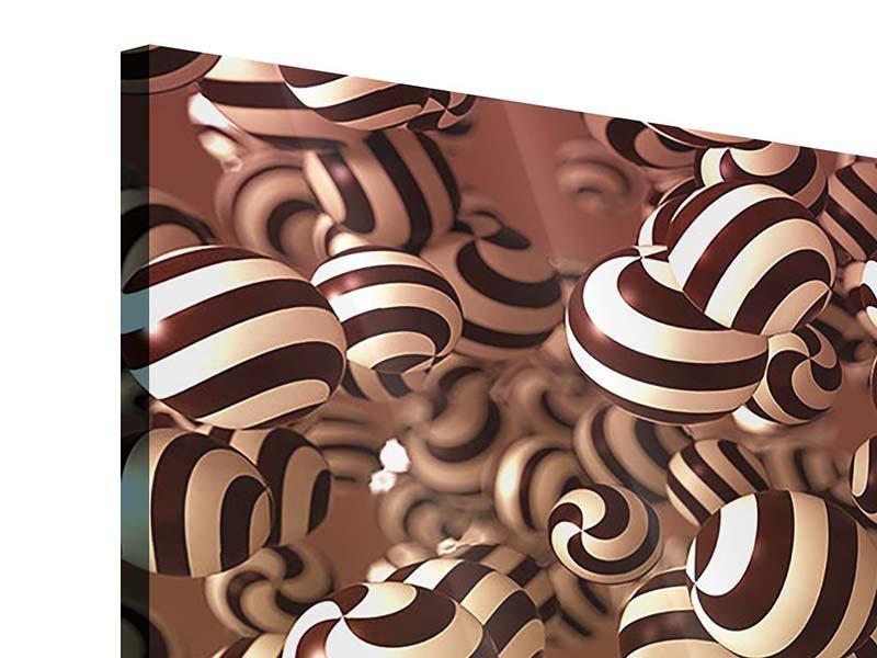 Acrylglasbild 3-teilig Schokoladen-Bonbons